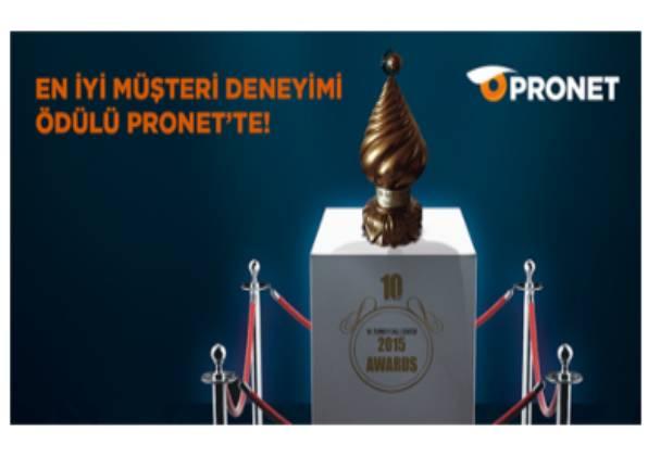 """Pronet'e """"En İyi Müşteri Deneyimi"""" Ödülü"""